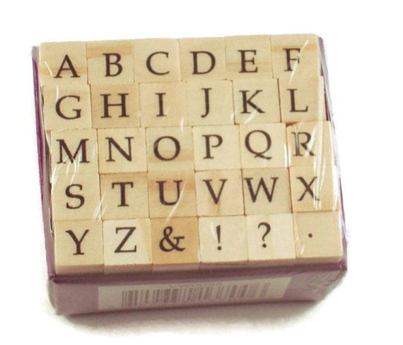 Mini Alphabet Rubber Stamp Set Ars 11