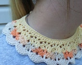 Handmade Lacy Crochet Collar with Button