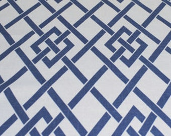 New 18x18 inch Designer Handmade Pillow Case in blue and white lattice