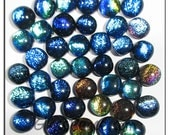 Dichroic Glass Cabochons 40 -  wholesale jewelry supplies - Glass Peace fused glass cabs (5572)