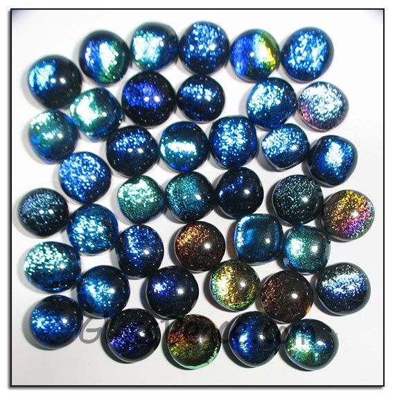 Dichroic Glass Cabochons 40 Wholesale Jewelry Supplies