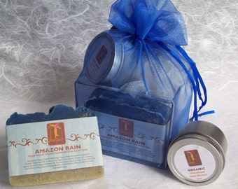 Gift Set for Men with Organic Soap, Natural Skincare, Etsy handmade soap