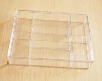 2 pcs Organizer Storage Beads Clear Containers or Box- 120x90x20mm