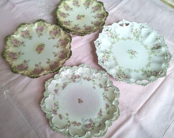 Vintage Roses Plates, MZ Austria Plate,