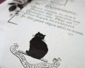 Black Cat 21st Birthday Good Luck Postcard circa 1915 FREE SHIPPING #63014002