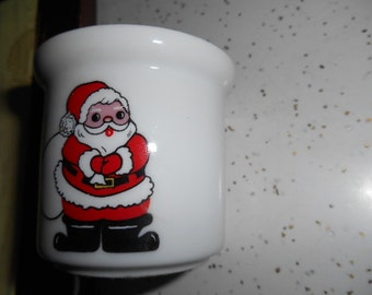 Vintage Porcelain Santa Claus Small Candle Holder Made in Japan