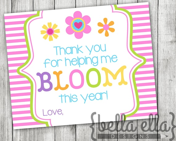 Gutsy image pertaining to thanks for helping me bloom printable