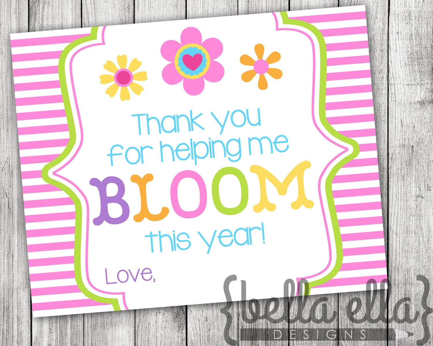 It's just a photo of Geeky Thanks for Helping Me Bloom Printable