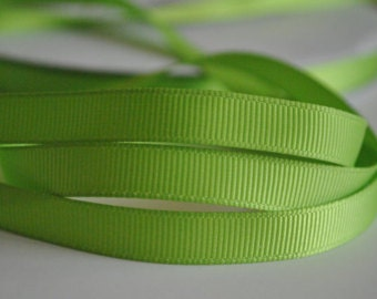 "7/8"" x 50 yards Solid Grosgrain Ribbon -  APPLE GREEN"