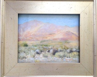Framed Original Pastel Landscape Painting by Paige Smith-Wyatt wall art