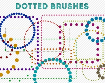 photoshop brushes - dotted brushes - for photography or scrapbooking - commercial use allowed - automatic download
