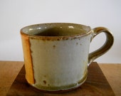 Espresso cup, demitasse, yellow and stone green