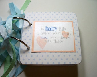 Baby Boy  Mini Scrapbook Album, Baby Boy Mini Album, Baby Boy Scrapbook, Baby Boy Photo Album, Baby Boy Brag Book, Chipboard Album