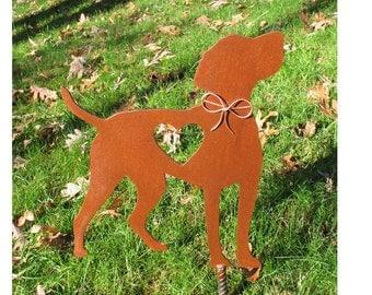 Vizsla Dog Metal Garden Stake - Metal Yard Art - Metal Garden Art - Pet Memorial