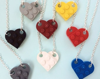 LEGO® Brick Heart Necklace