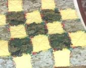 USMC MARPAT Desert and Wooland Camouflage Lovie Baby Rag Quilt