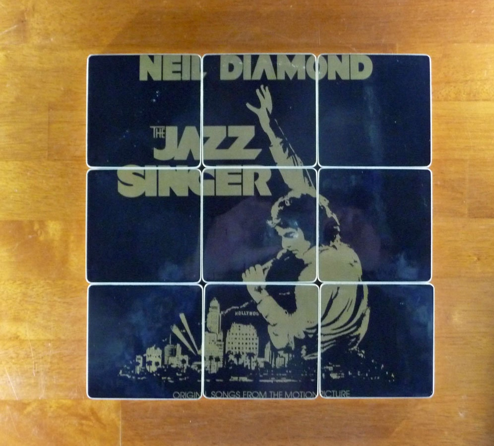 Album Diamond: Neil Diamond Recycled The Jazz Singer Album Cover Coasters