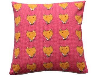 SALE - Fox Face Print Cushion / Pillow