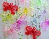 NEW item Transparent plastic bow connector beads 10pcs  5 random pairs