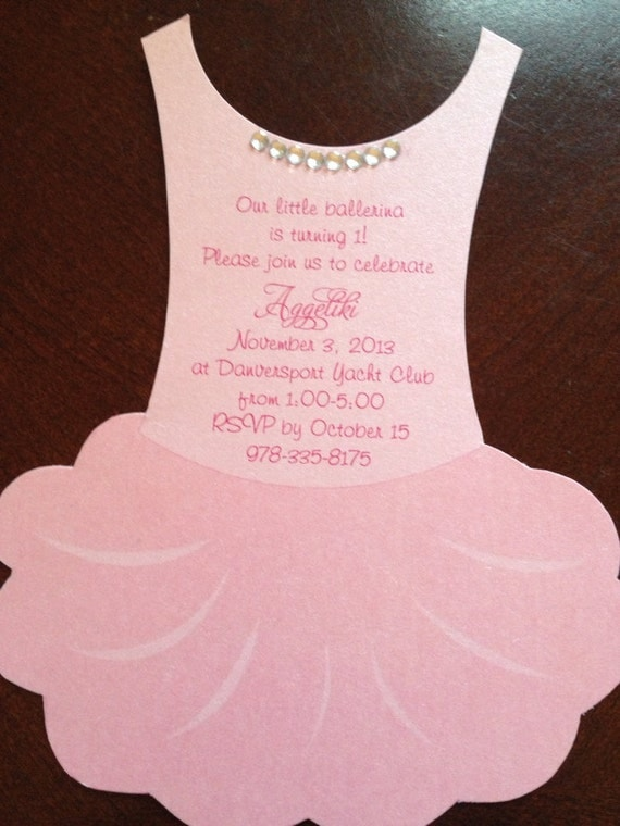 Tutu Baby shower invitation flat Ballerina baby by anaderoux