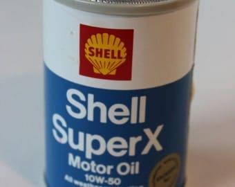 Vintage Shell Super X Motor Oil Transistor Radio 10 W-50 Antique Petroliana Collectible