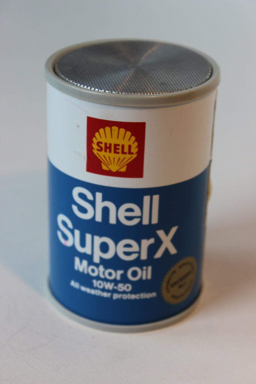 Vintage Shell Super X Motor Oil Transistor Radio 10 W 50