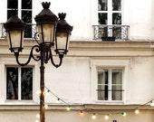 Paris Photography Twinkle Lights Paris Print Extra Large Wall Art Prints, Paris Wall Decor