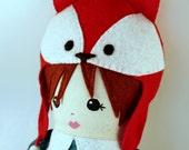 Handmade rag doll Fox hat