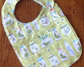 On Sale - Bug in a Jar Minky Baby/Toddler Bib