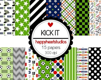 Digital Scrapbooking KickIt -INSTANT DOWNLOAD