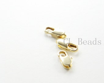 10 Pieces Premium Gold Plated Brass Base Lobster Claw - Lobster Clasps-12mm (336C-I-122)