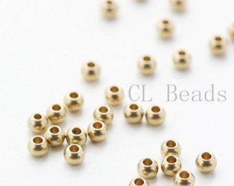 100pcs RAW Brass Ball Spacer - 3mm (1695C-T-43)