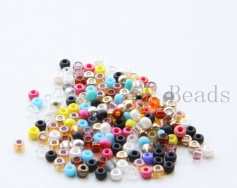 One Package (20 Grams) Mixed Colors Japanese Miyuki 8/0 Seed Beads