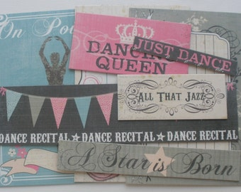 DANCE - Ballet Chipboard Die Cuts: Journaling Cards / Titles / Quotes / Picture Cards