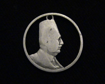 EGYPT - cut coin jewelry - Uniformed Bust - 1924