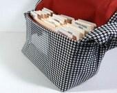 Large Coupon Organizer, Coupon Holder, Coupon Binder. Coupon Bag, Houndstooth Fabric