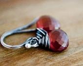 Spessartite Garnet Earrings Rust Orange Autumn Dangle Birthstone Silk Road Spice