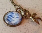 Koi Fish Necklace w/ Pendant