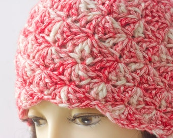 Cloche Hat Crochet Pattern, Instant Download, 1920's Style Hat PDF  Pattern, Shell Hat Crochet Pattern