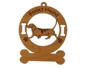 1485 Basset Hound Gaiting  Personalized Dog Ornament