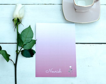 Nourish - Word of the Year - Postcard with envelope
