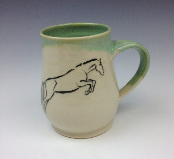 Jumping Horse Mug- Fern Green