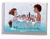Greeting card - Bath couple
