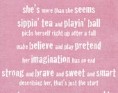 Sugar and Spice and Everything Nice, Sugar and Spice Print, Girl's Nursery Print, Sugar and Spice Poem, Baby Shower, Girl Baby Shower