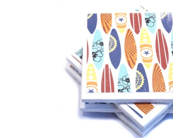 Coasters - Retro Surfboards - Set of 4 Ceramic Coasters