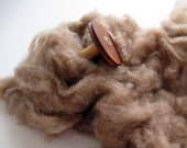 Ecru/Undyed/Natural Brown Camel cashmere fiber (dehaired), spinning fiber - 4 ounces