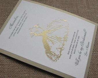 Will you be my Bridesmaid Cards, Matron of Honor, Flower Girl Cards