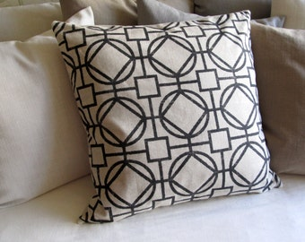SURI BLACK geometric decorative Pillow Cover 18x18 20x20 22x22 24x24 26x26