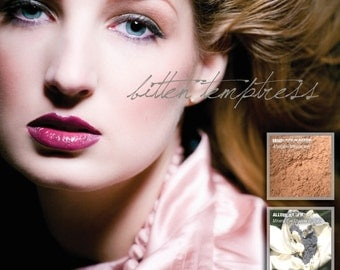 Two All Natural Mineral Lipsticks and Cream Blush Colorsticks in JENNY and BALLERINA GIRL  Non-Comedogenic Mineral Makeup