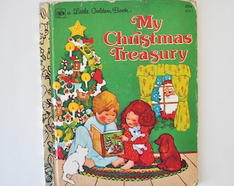 1970s vintage little golden book--My Christmas Treasury